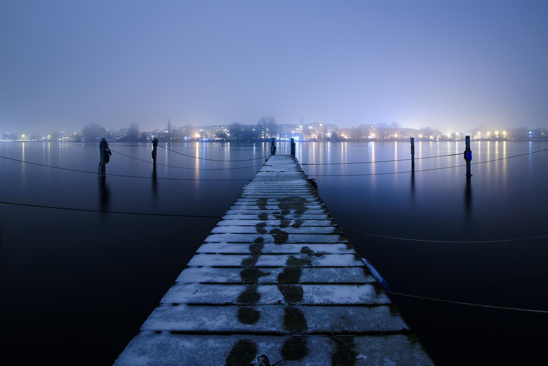 berlin, köpenick, winter, nacht