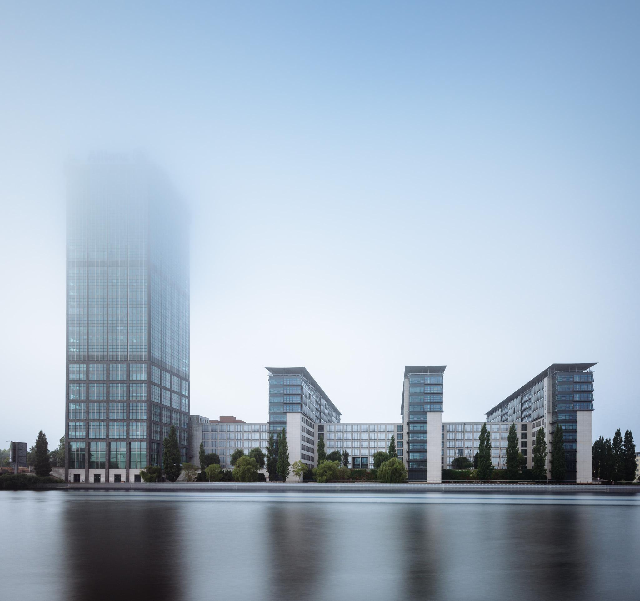 berlin treptow spree nebel sonnenaufgang