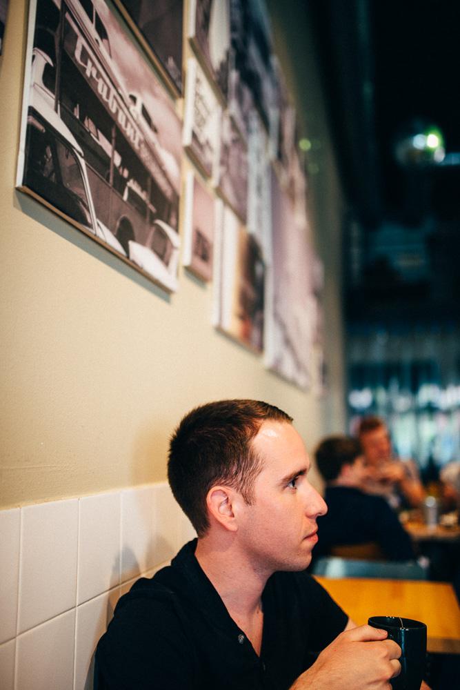 Im Kaffee Berlin in Lyon