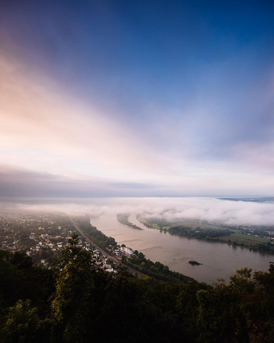 Siebengebirge, Königswinter, Drachenfels, Rhein