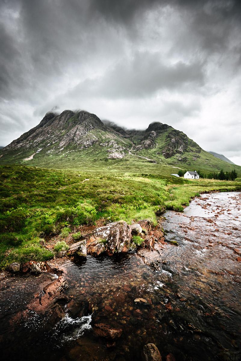 Buachaille Etive Mor von Altnafeadh aus betrachtet (Glen Coe)