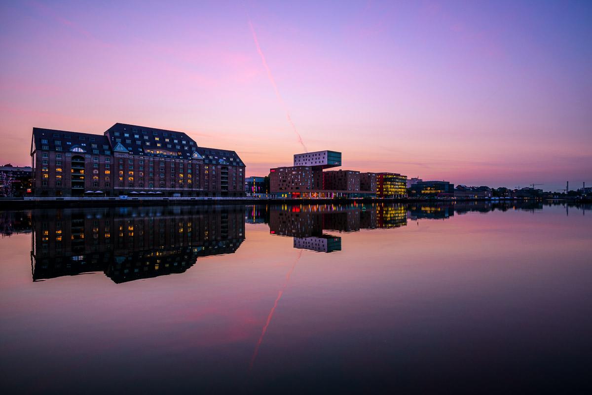 Osthafen I, 07.08.2014, 5:23, Morgendämmerung
