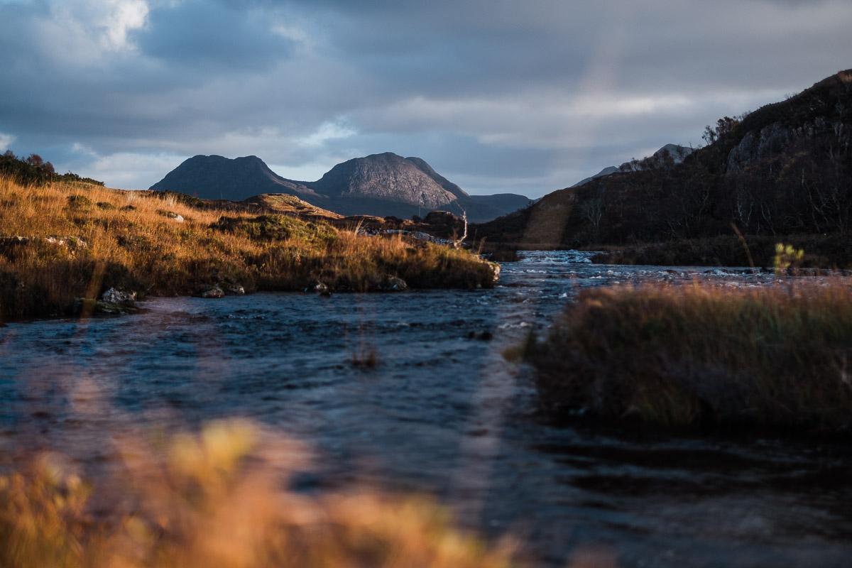 Loch Bad a' Ghaill vor Stac Pollaidh & Cùl Beag