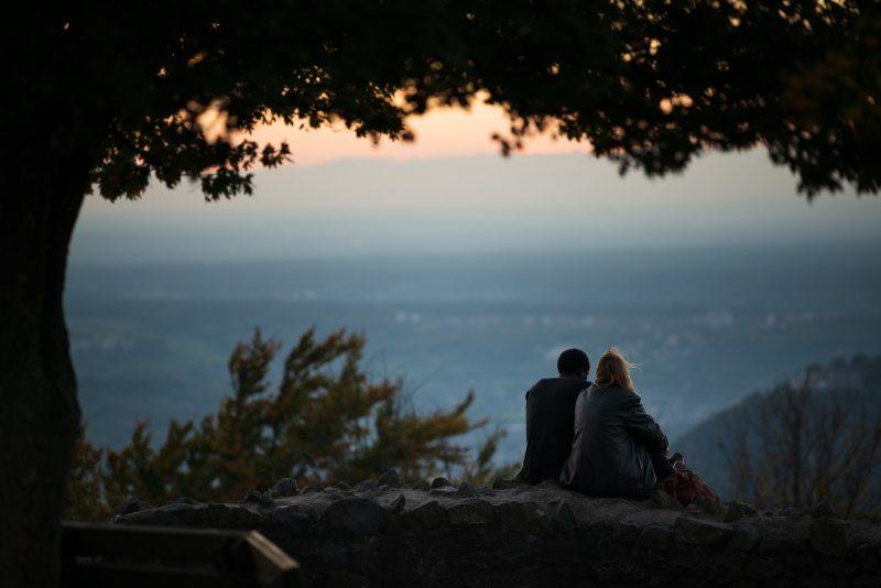 Romantik beim Sonnenuntergang