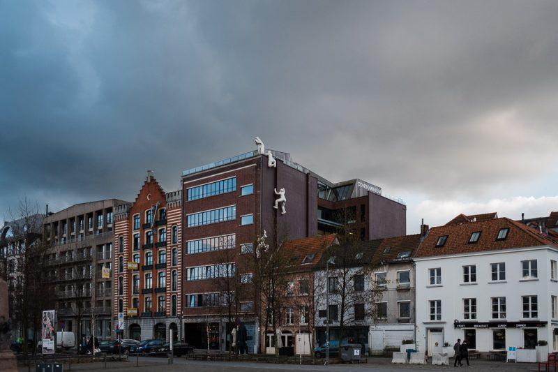 Wolkenbruch in Antwerpen